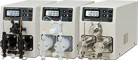HPLC pumps made in Japan by FLOM, part of GL Sciences
